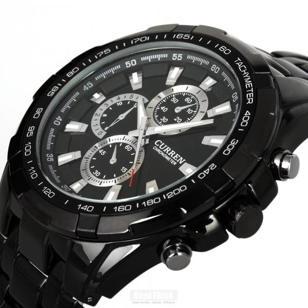 Čierne pánske hodinky Curren v troch druhoch su štýlové a budete ich môcť  nosiť naozaj ku všetkému. Je jedno 7f02746ed7