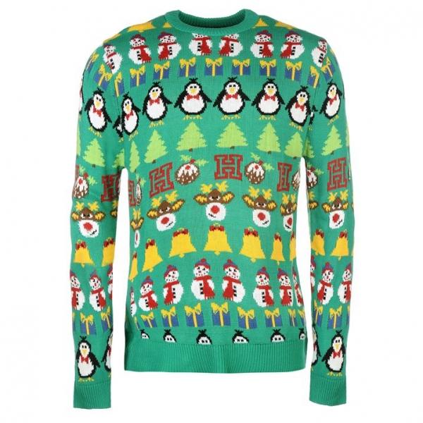 5e68945b0 SHOPPER.sk | Pánsky sveter s Vianočnými motívmi