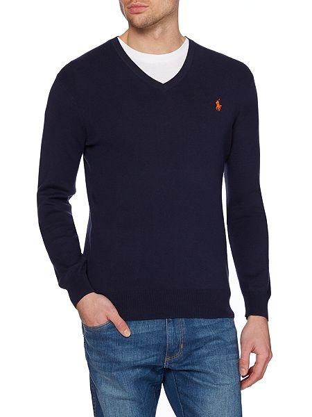eb16ad299b Pánsky sveter s véčkom RALPH LAUREN POLO. Nadčasový véčkový dizajn a super  kvalita svetovej značky Ralph Lauren.